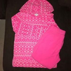 Fleece hooded sweatshirt and pants